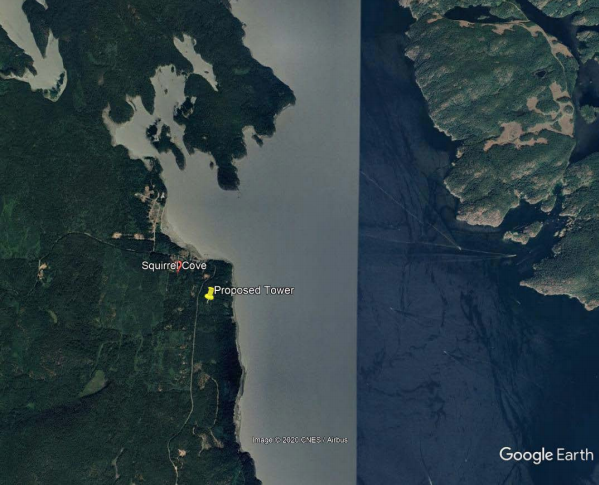 communication tower sites: Squirrel Cove