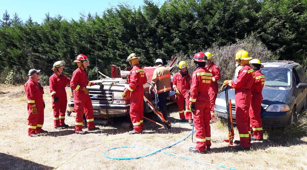 Cortes Island Fire Department volunteers