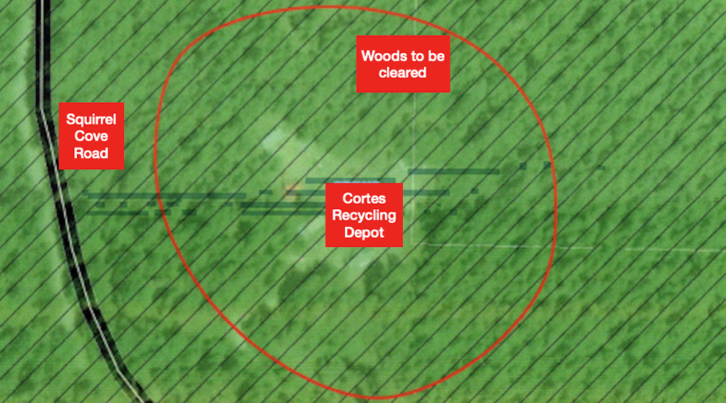 Adapted from cropped map of Cortes Recycling Depot