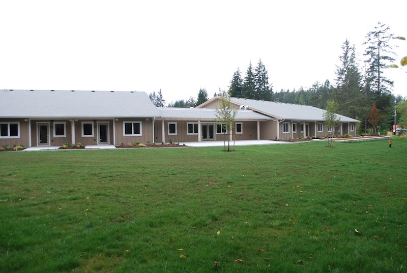 Rear view, Quadra Island Seniors Housing Project