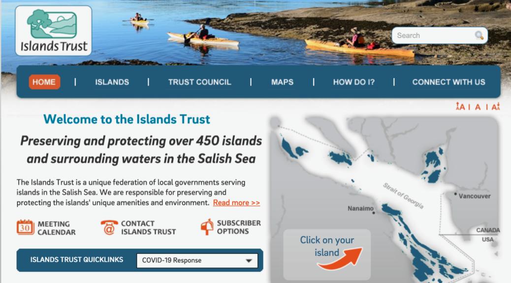 Island Trust website
