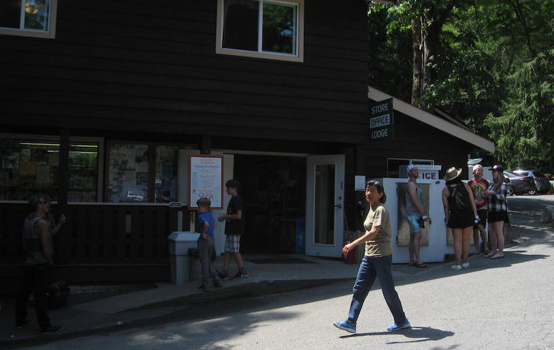 Gorge Harbour General store on Canada Day