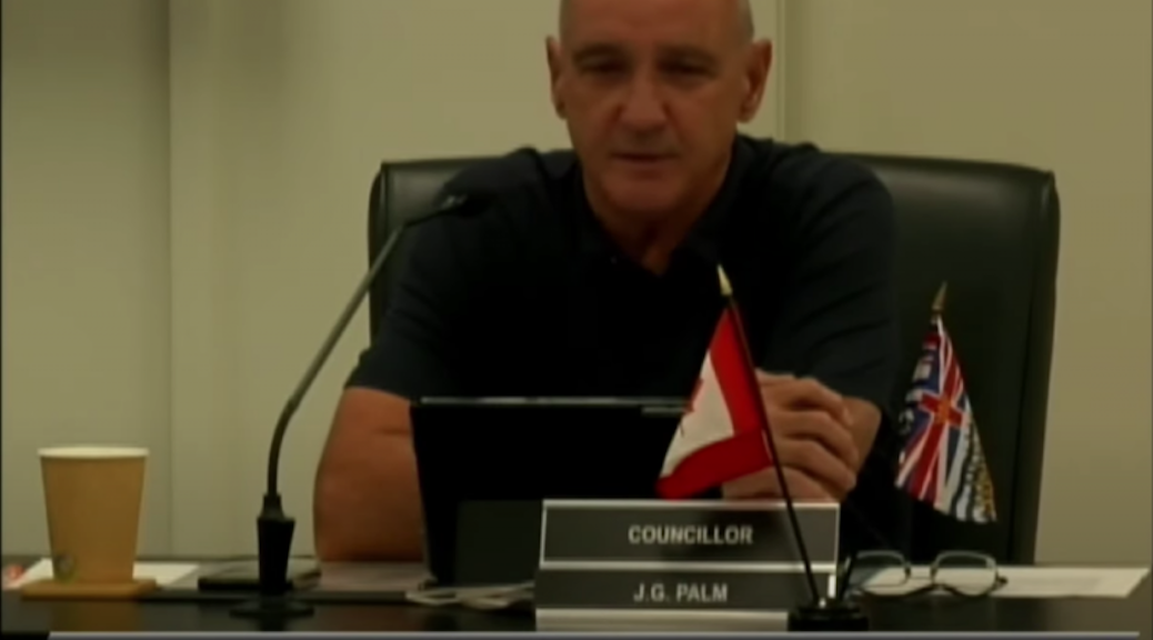 Powel; River councilor Jim Palm making transphobic speech