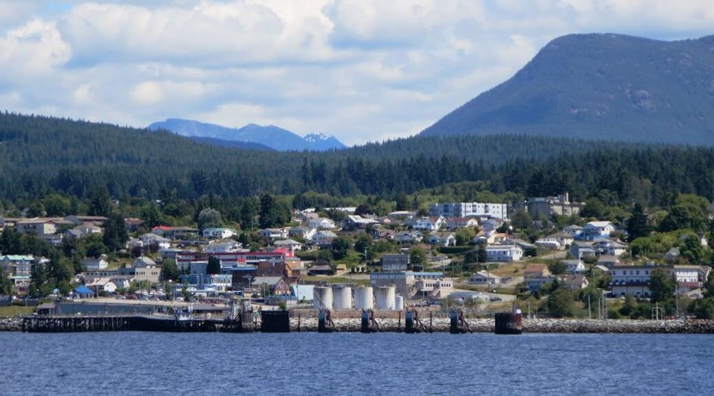 View of Powell River from the ocean